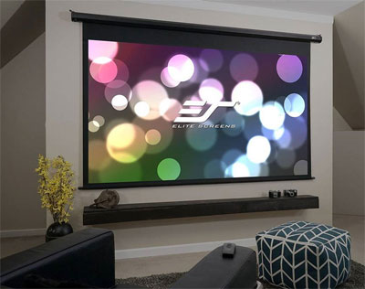 Elite Screens Projector Screen on Wall