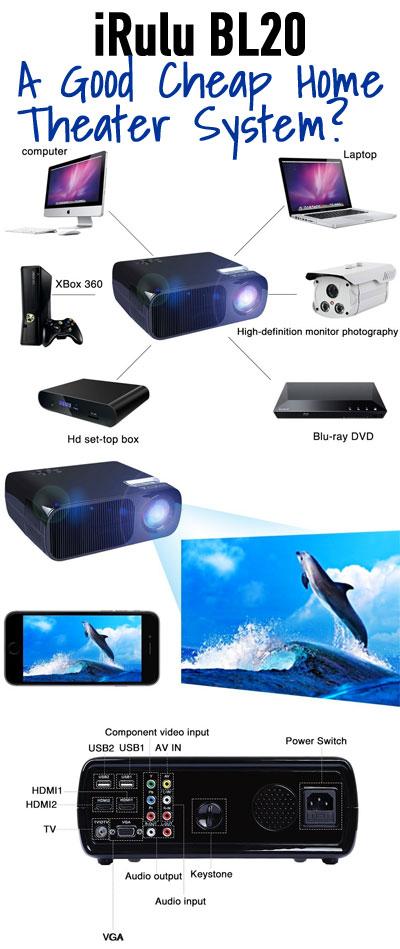 irulu projector a good cheap home theater