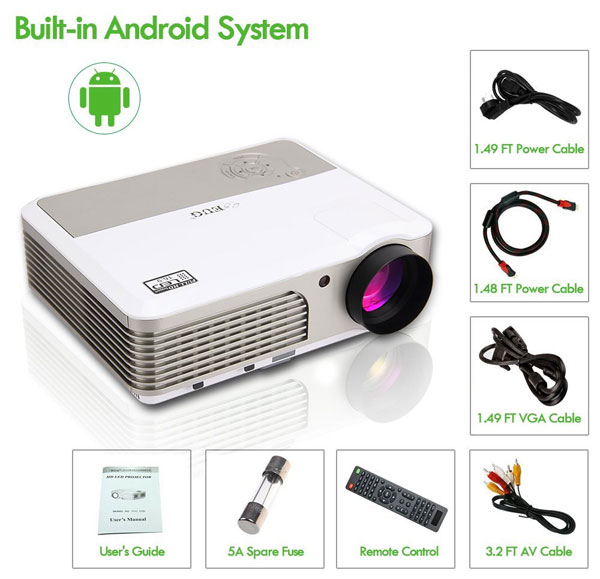 What's Included in the Wireless Outdoor Movie Projector Package
