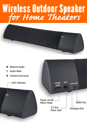 Superieur Wireless Outdoor Speaker For Home Theaters